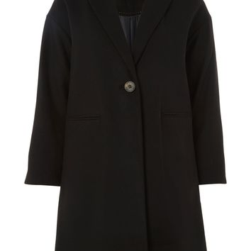 Black Millie Relaxed Coat | Topshop