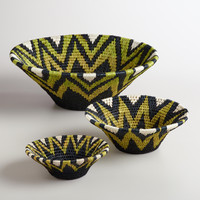 Lime and Black Shield Baskets
