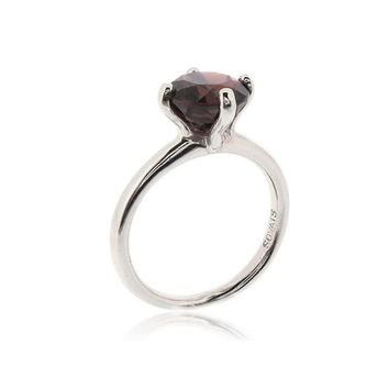 "SOLITAIRE RING ""GARNET"""