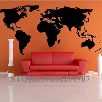 World Map wall stickers for kids rooms removable pvc Art decals cute kid home decor for kids rooms poster mural