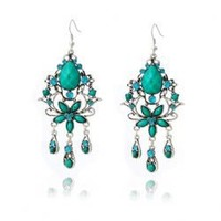 Palace Vintage Style Openwork Bud Patterns Tassel Earring
