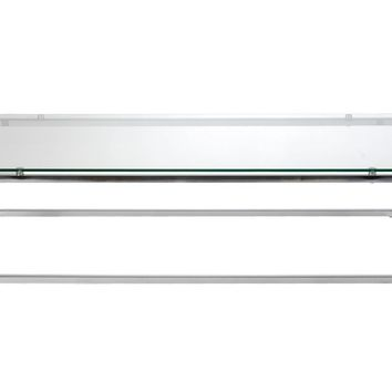 Sandor Rectangle Coffee Table in Clear Glass with Chrome Base