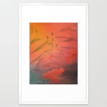 Head in the Clouds Framed Art Print by DuckyB (Brandi)