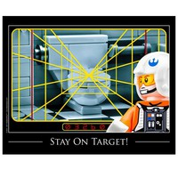 Stay On Target Bathroom Print