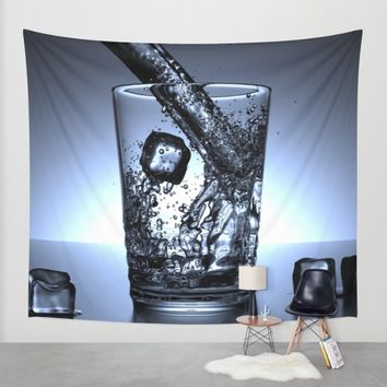 Glass of Water Wall Tapestry by Mixed Imagery