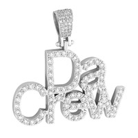 Da Crew Custom Designer Hip Hop Men's Pendant Iced Out  with 14k white Gold Finish