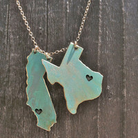 Live & Love Custom Necklace. You pick the States or Countries and the Cities that the hearts are placed in.