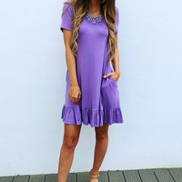 Simply Me Dress: Lavender