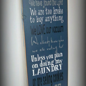 Image gallery humorous no soliciting signs - Funny soliciting signs ...