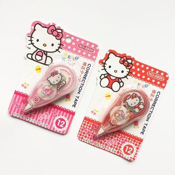 1X Kawaii Hello Kitty Correction Tape School Office Supply Student Stationery Kids Gift Pink/Red