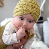 Knitting / Baby turban!! I just died of cute. #knit