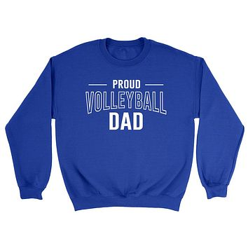 Proud volleyball dad volleyball team squad game day sport dad love volleyball Father's day Crewneck Sweatshirt