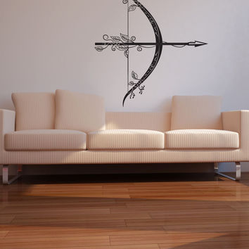 Vinyl Wall Decal Sticker Intricate Bow and Arrow #OS_DC535