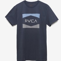 RVCA Nation T-Shirt - Mens Tee - Blue