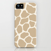 Giraffe Animal: Camel Cream iPhone & iPod Case by Eileen Paulino