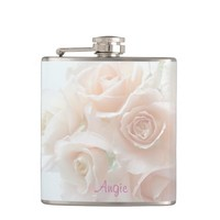 Pale coral roses flask