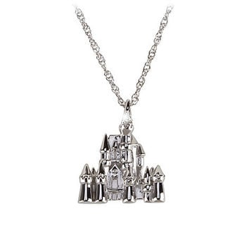 Sterling Silver and Diamond Sleeping Beauty Castle Necklace from the Disney Dream Collection | Disney Store