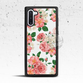 White Floral Phone Case for Samsung Galaxy S & Note
