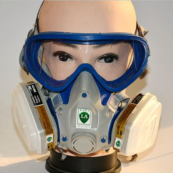 Paint spray respirator gas mask silicone full face respirator pesticides carbon filter mask Free Shipping