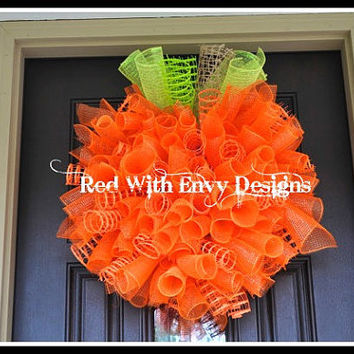 Halloween Spiral Wreath, Halloween Wreath, Spiral Wreath, Deco Mesh Wreath, Wreath,Pumpkin, Pumpkin Wreath