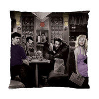 Elvis Marilyn and James Dean Cushion Standard Cushion Case (One Side)