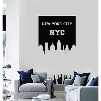 Vinyl Wall Decal New York City USA NY NYC Home Interior Decor Art Stickers Mural (ig5778)
