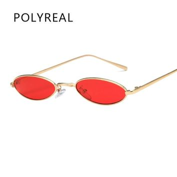 2018 New Small Oval Steampunk Sunglasses Fashion Women Men Vintage Brand Designer Ladies Retro Round Sun Glasses for Female Male