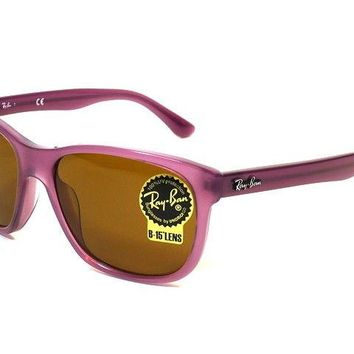 Authentic Ray Ban Sunglasses Highstreet RB4181F 1148 Violet Frames Brown Lens