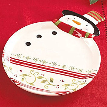 Snowman Holiday Serving Platter