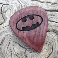 Purpleheart Handmade Premium Wood Guitar Pick -  Laser Engraved - Both Sides