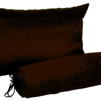 J-Life Espresso Buckwheat Hull Pillow