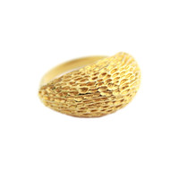 Large Gold Tone Statement  Ring