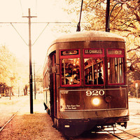 new orleans street car photography wall art by eireanneilis