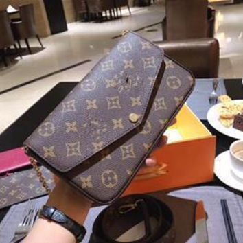 2019 Autumn Explosion Models Hot European And American Fashion Ladies Genuine Leather Letter Pattern LV Shoulder Messenger Bag