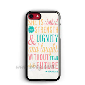 Bible Verse Proverbs 31 25 iPhone Cases Samsung Galaxy Phone Case iPod cover