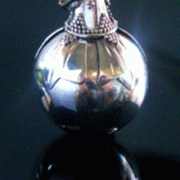 Harmony Ball Pendant with Ornate Hood on a Sterling Silver Ball