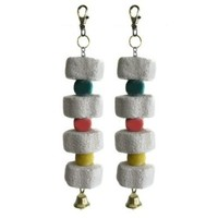 Alfie Pet by Petoga Couture - Set of 2 Small Animal Mineral Stone Flower Chew Charm (for Guinea Pig, Rabbit, Hamster, Bandit, Ferret, Mouse)