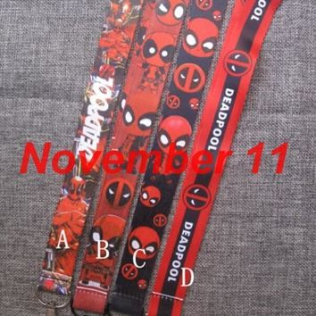 Deadpool Dead pool Taco Lot mixed 50Pcs cartoon  Neck Strap Lanyard For ID Badge Cell Phone Key chain party Gift SM580 AT_70_6