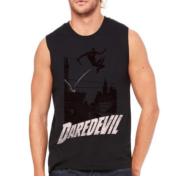 above the rooftops Muscle Tank
