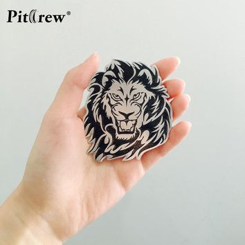 Car Decoration Animal Stickers Logo Metal 3D Lion/Eagle/Tiger Aluminium Emblem Badge Decal Auto Auto Styling Car Accessories