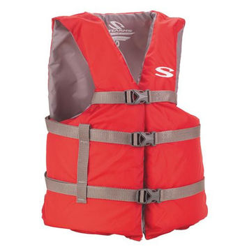 Adult Classic Boating PFD - Red, Oversized