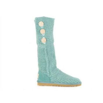 DCCKIN2 Ugg Boots Cyber Monday Knit Classic Cardy 5819 Green For Women 81 14