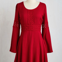 Mid-length Long Sleeve A-line Lovely at the Lake House Dress by ModCloth
