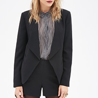 Fold-Over Lapel Blazer