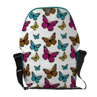 Pretty Butterflies Colorful Messenger Bag
