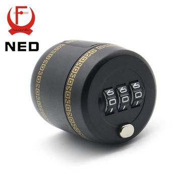 NED Plastic Bottle Password Lock Combination Lock Wine Stopper Vacuum Plug Device Preservation For Furniture Hardware
