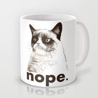 GRUMPY CAT - Nope (version 2) Mug by John Medbury (LAZY J Studios)