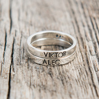 Mother Stackable Name Ring