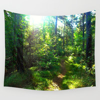 Sunshine Forest Wall Tapestry by Art-Motiva
