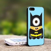 Despicable Me Minion The Avengers - For iPhone 5 Black Case Cover